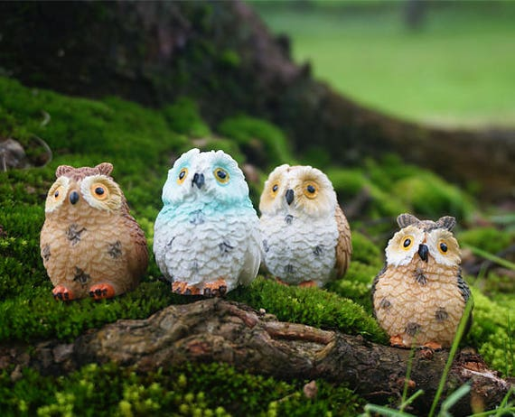 Accessories Blue Bird Miniature Dollhouse FAIRY GARDEN Buddha Animal