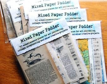 art journaling mixed paper fodder