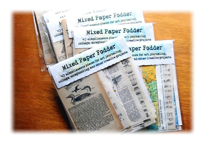 art journaling mixed paper fodder image 0