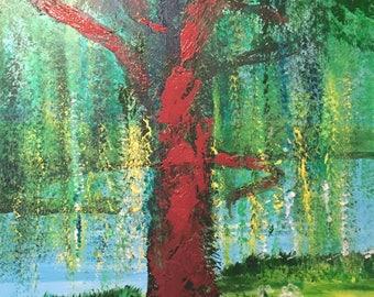 Willow tree original painting