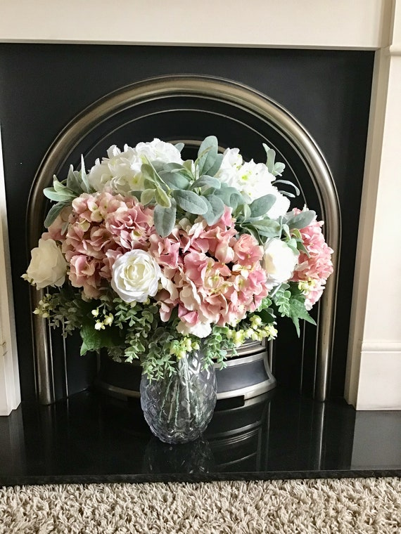 Extra Large Artificial Flowers Arrangement Hydrangea Rose Etsy