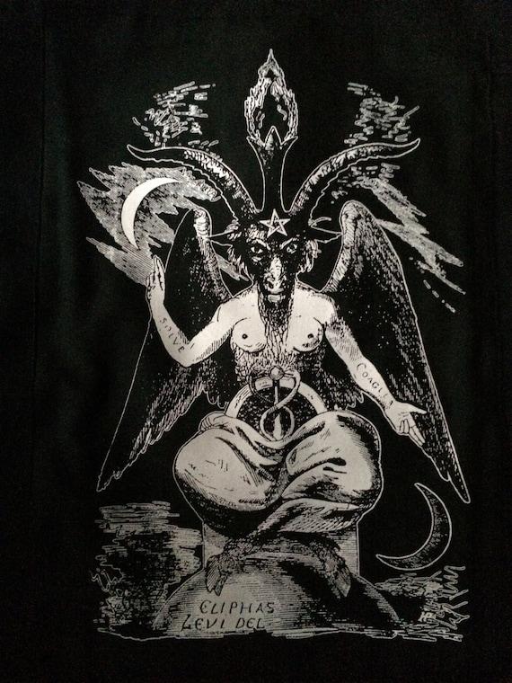 Robe femme Baphomet Pentagram satantic occulte Église de Satan chèvre goth S-XL