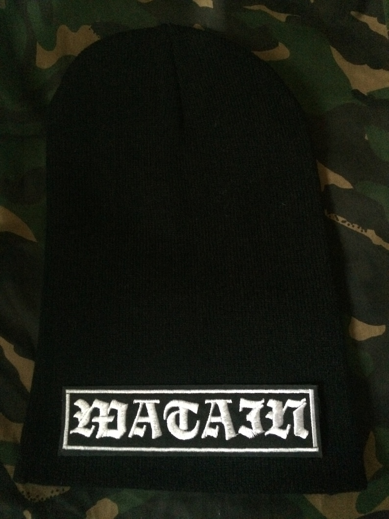 75ac6711785 Watain To The Death Patch Black Slouch Beanie Black Metal