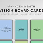 Affirmation Cards | Vision Board Printable, Vision Board Cards, Positive Affirmation, Law of Attraction, Daily Affirmations, Manifest Money