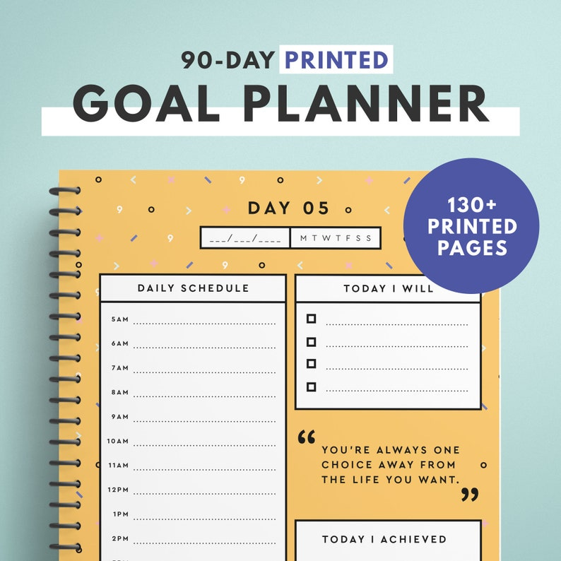 90 Day Planner Habit Tracker / Daily Planner Printed Version image 0