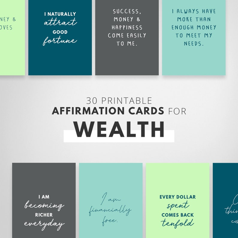 I Am Affirmation Cards Daily Affirmations Positive image 0