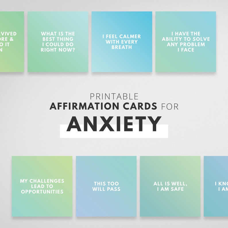 Vision Board Cards for Anxiety  Vision Board Printable image 0