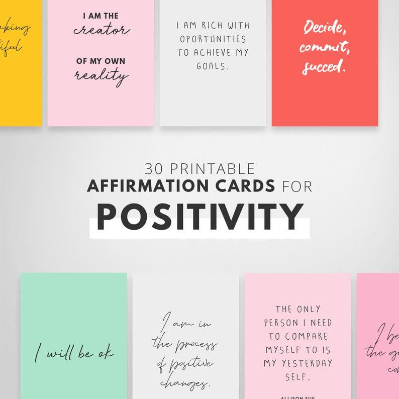 Positive Affirmation Cards Kids Affirmations Words to Print image 0