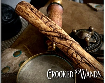 Hand Carved Wooden Wand // Wizard Wand //Magic Wand