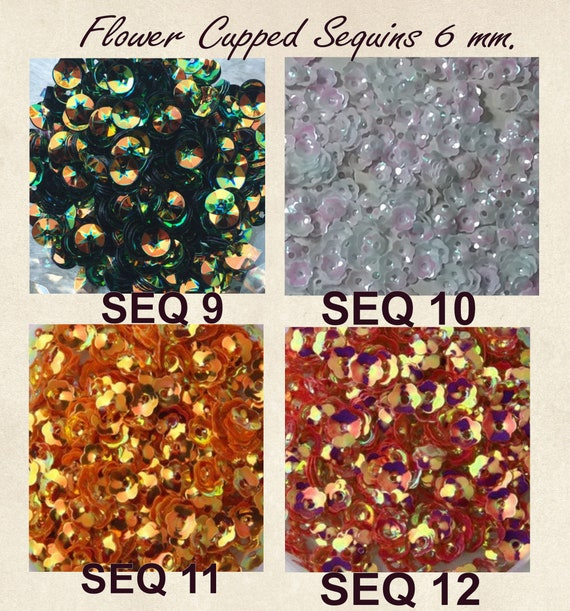 SEWING//EMBELLISHMENTS *3 FOR 2* SEQUINS 6-7mm CUPPED LOOSE ROUND SEQUINS
