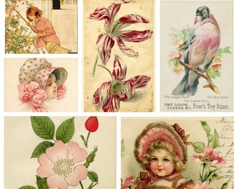 Tickled Pink DIGITAL Ephemera Pack