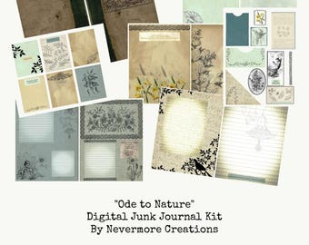 Ode to Nature - Digital Junk Journal Kit