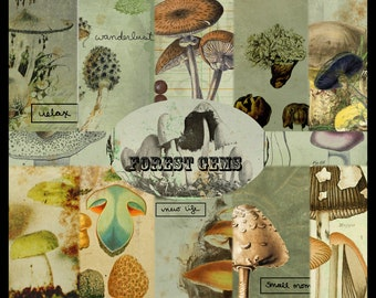 Forest Gems DIGITAL Junk Journal Kit