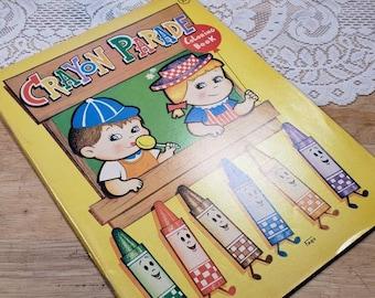 Crayon Parade Vintage Children's Coloring Book 1977