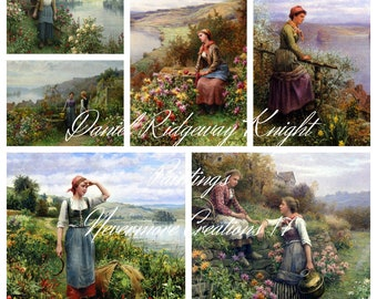 Daniel Ridgway Knight Paintings DIGITAL 36 Images