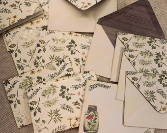 Botanical Card + Envelope Set of 6