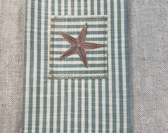 Starfish FabricStitched Journal Cover with Pockets