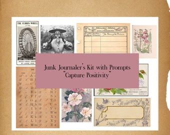 Capture Positivity Journal Collage Kit & Prompts