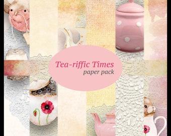 Tea-riffic Times DIGITAL Paper Pack