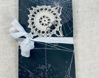 Halloween Doily Web Junk Journal by Lindsey
