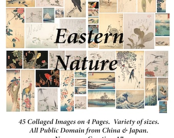 Eastern Nature DIGITAL Ephemera Pack - 45 Images from Japan & China