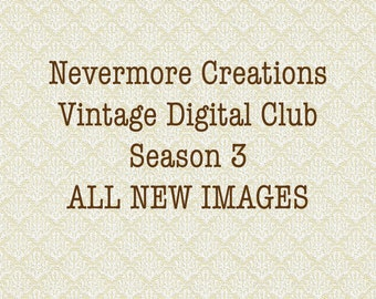 Nevermore Creations Vintage Digital Club Subscription July-August 2019
