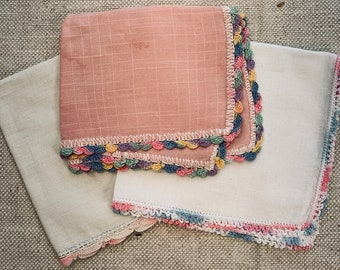 Vintage Handkerchiefs Set of 3