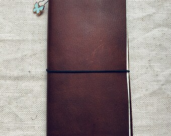 Genuine Leather Traveler's Notebook Cover & Insert by Debra Keisel