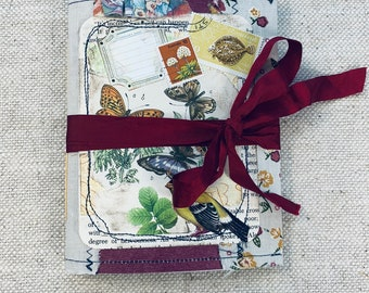 Mini Collaged Nature Junk Journal by Cindy Anderson