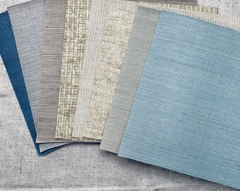 Textured Mix Wallpaper Collection Set of 8
