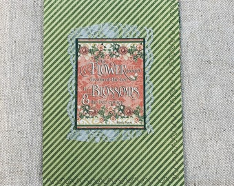 Flower Blossoms Cardstock Stitched Journal Cover with Pockets & Ephemera