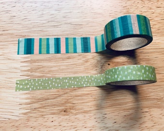 Blues & Greens Washi Roll Set of 2