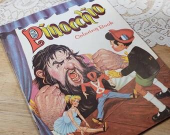 Vintage 1975 Pinocchio Children's Coloring Book