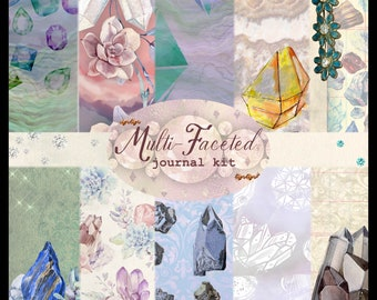 Multi-Faceted (Gems) DIGITAL Junk Journal Kit