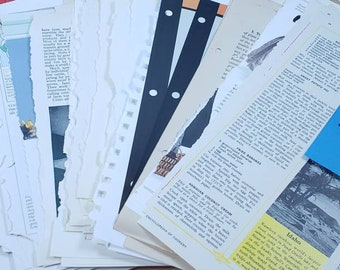 One Pound of Assorted Book Pages for Junk Journals