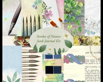 Strokes of Nature PRINTED Junk Journal Kit