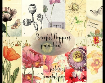 Peaceful Poppies PRINTED Journal Kit