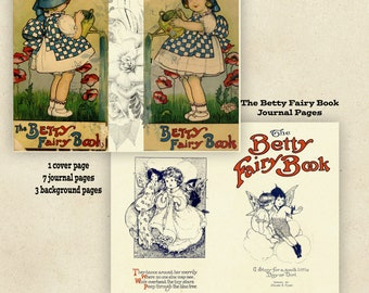 The Betty Fairy Book PRINTED Journal Pages