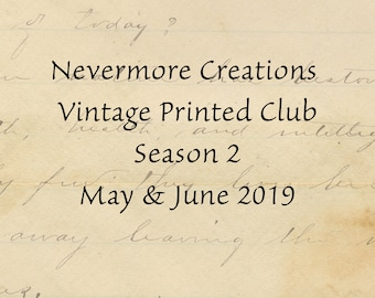 Vintage PRINTED Image Subscription Service MAY JUNE