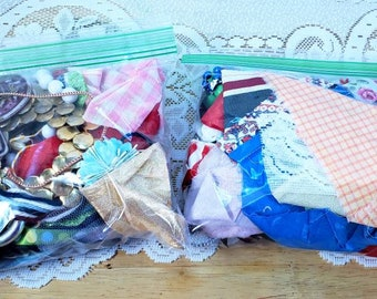 Junk Journal Remnant Supply Bags 4+ Ounces