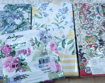 Botanical Nature Mixed Napkin Lot of 15