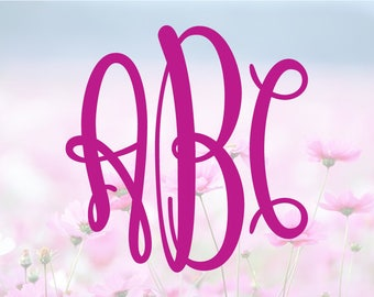 Keepsake Monogram SVG, Alphabet Letters SVG, Monogram Font, SVG Cutting Fonts, Svg Files, Svg files for silhouette