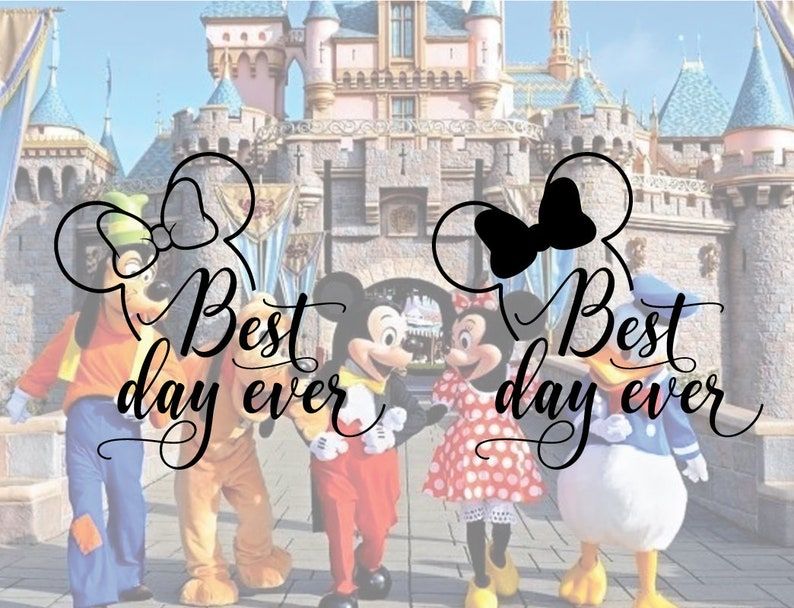 Disney Best day ever svg, Disneyland svg, Disney svg, Vacation mode  Disneyland svg, Minnie Mouse SVG, Disneyworld svg, Minnie bow svg