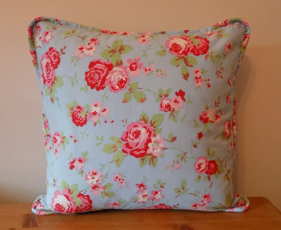 Cath Kidston Cushion Cover Uk Piped Throw Pillow Floral Etsy