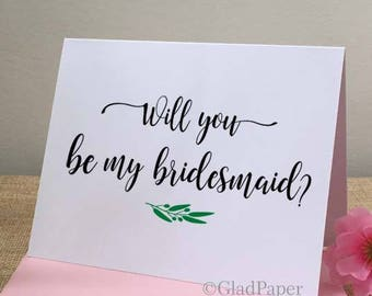 Will You be My Bridesmaid Card, Will You be My Bridesmaid Cards, Bridesmaid proposal card, Ask my bridesmaids, Maid of Honor card, Wedding