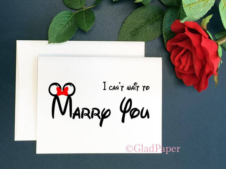 Disney I Can T Wait To Marry You Card Wedding Day Card Disney