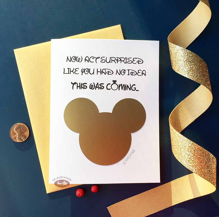 Wedding Witness Gifts: Will You Be Our Witness Proposal Disney Scratch Off