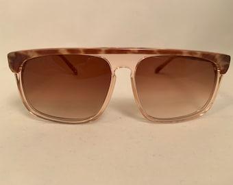REGS-B Oversized Vintage 1980s Aviator Style Sunglasses in Brown, New Old Stock, Regatta