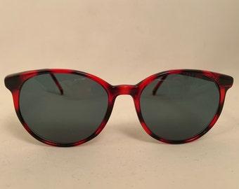 EDS -  Round Red and Black Vintage Eyeglasses, New Old Stock, Edinboro