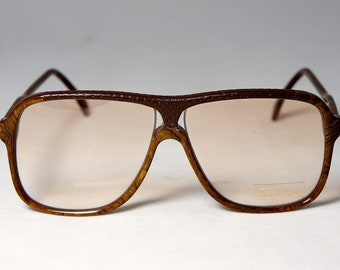 OST Unique Vintage Aviator Eyeglass Frames with Leather Wrap, 1980's New Old Stock by Tura